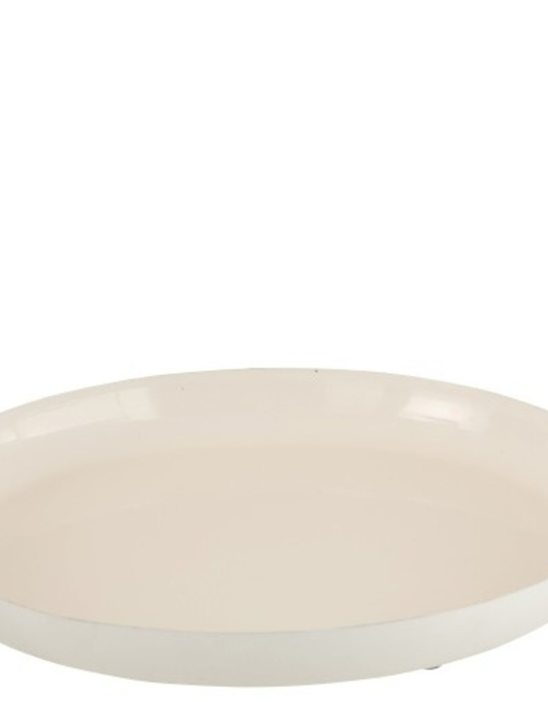 Jolipa  Tablett weiß Metall