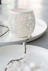 Jolipa  Teelicht weiß gelocht