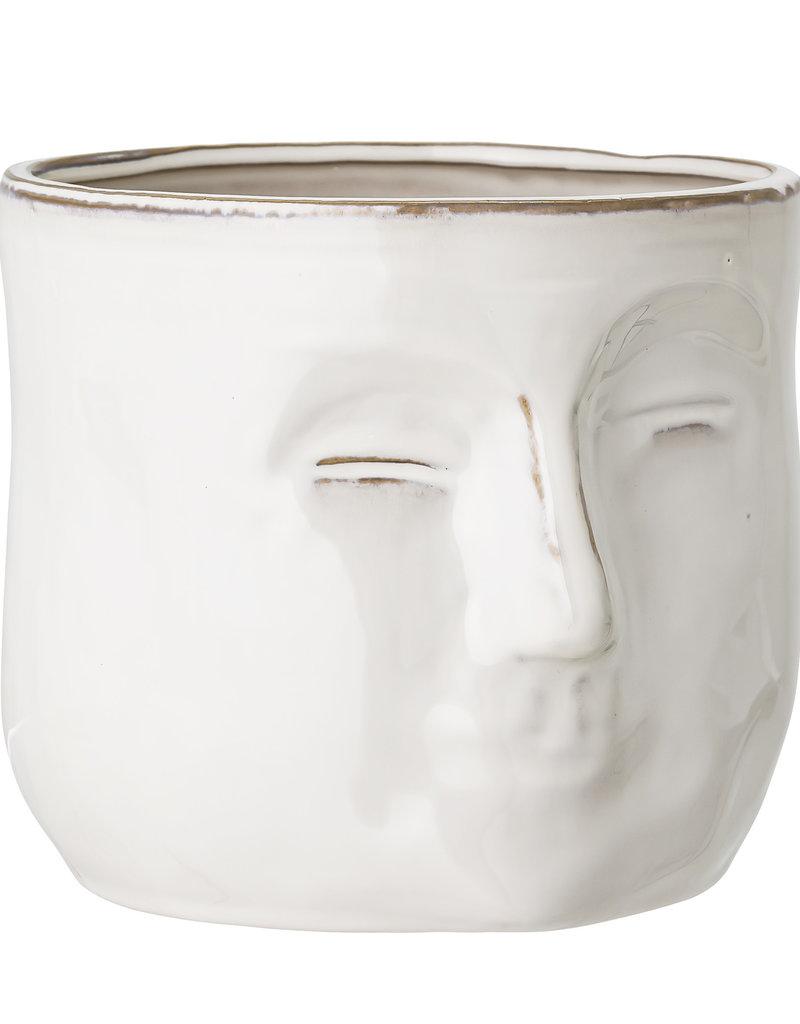Bloomingville  Flowerpot Face white