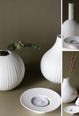 Storefactory  Vase Vena weiß S