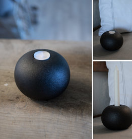 Storefactory  Kerzenständer Bosebo  schwarz