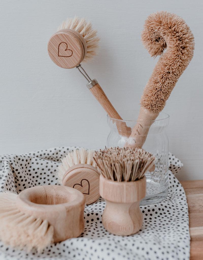 Eulenschnitt Spülbürsten Holz im 5er Set