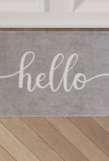 Eulenschnitt Fußmatte Hello Grau