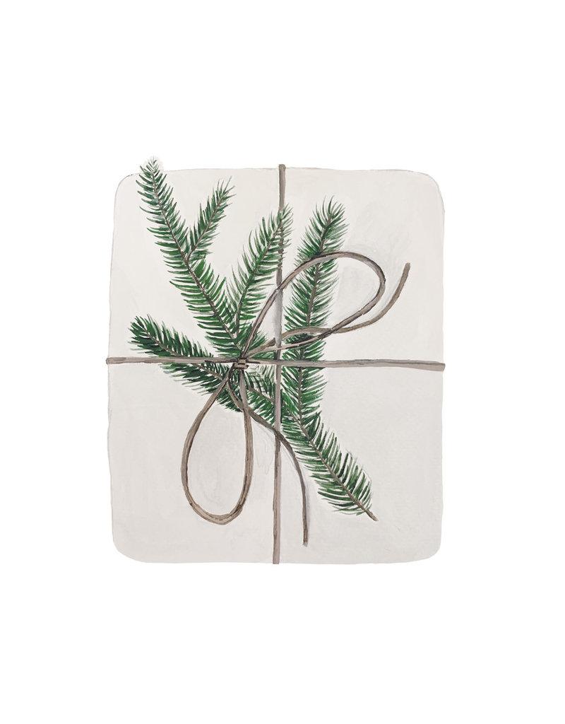 Eulenschnitt Weihnachtskarte Geschenk