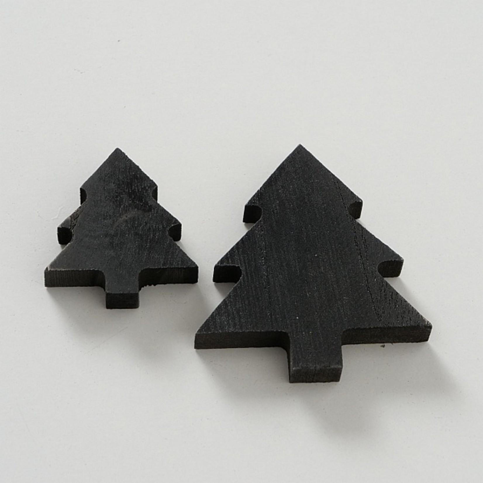 Holzdeko schwarz und natur