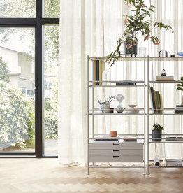 Hübsch Interior Regal Metall Esche grau