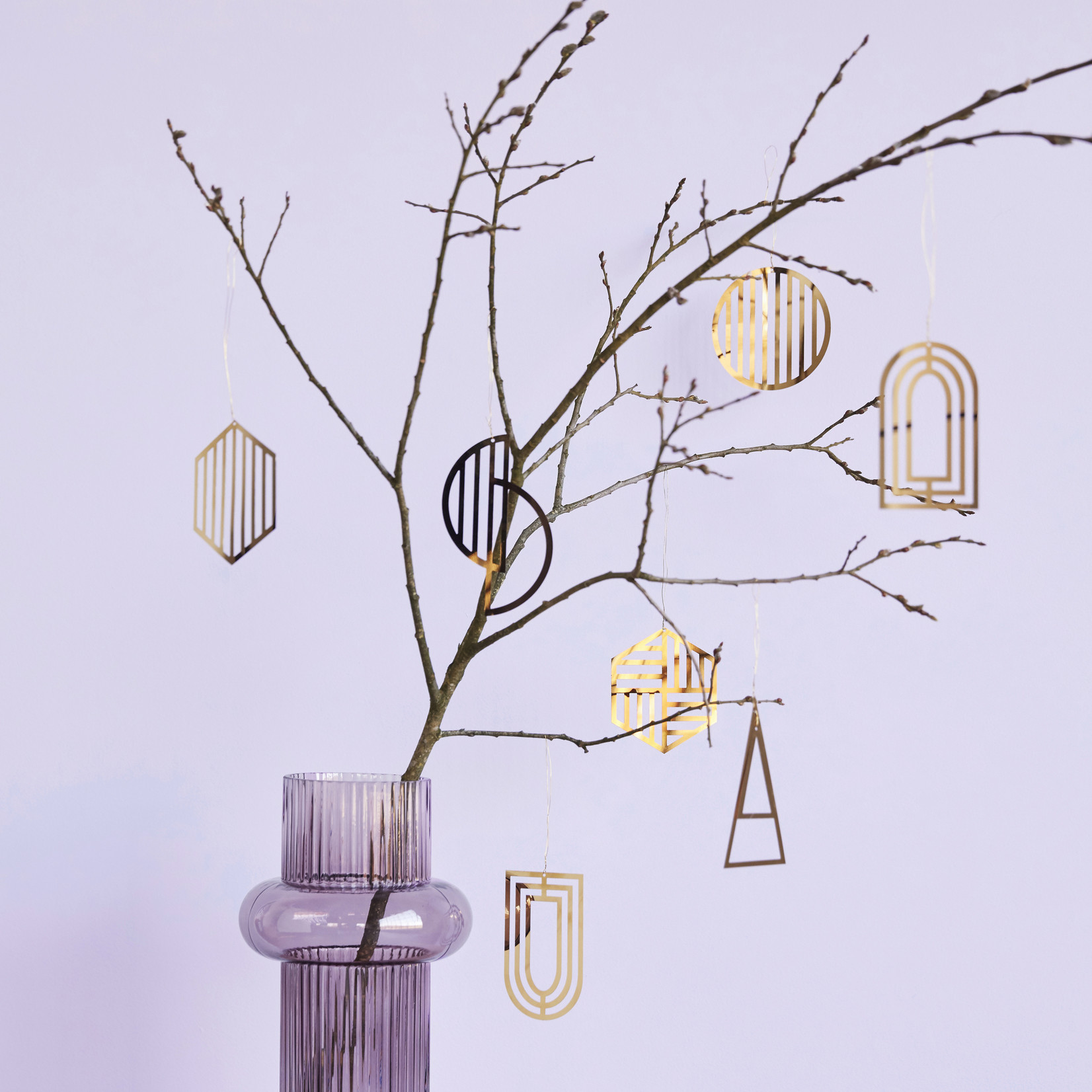 Hübsch Interior Ornament Messing 2er Set Kreise