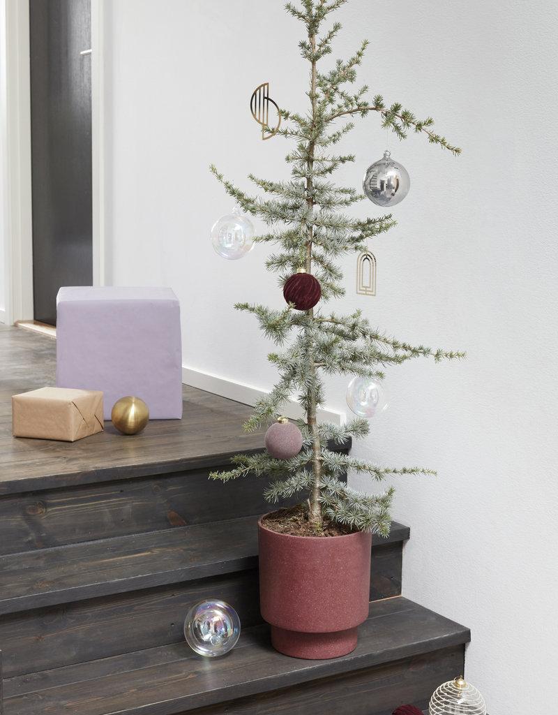 Hübsch Interior Weihnachtskugel gold/klar 2er Set