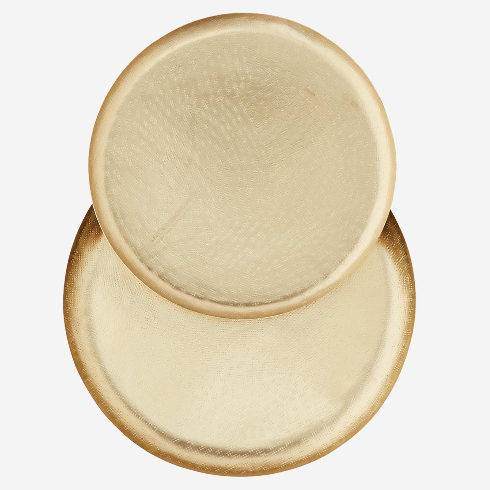 Madam Stoltz Tablett Gold 2 Größen