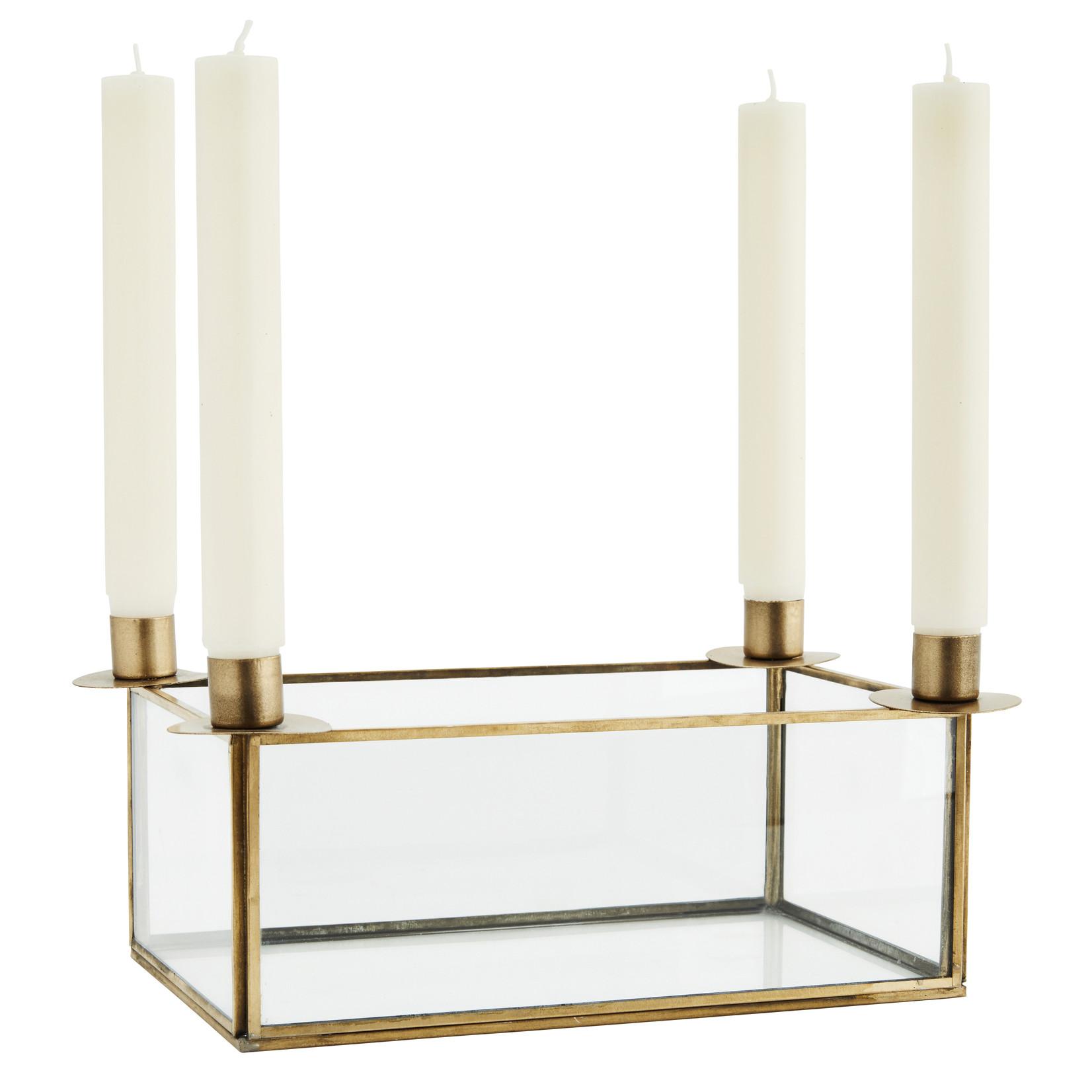 Madam Stoltz Adventskranz Glas/Gold