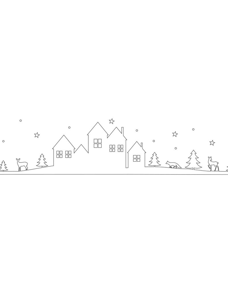 Eulenschnitt Sticker Schneelandschaft