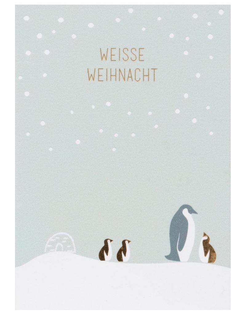 Räder Design Postkarte weisse Weihnacht