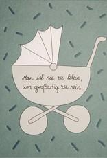 Räder Design Postkarte Kinderwagen