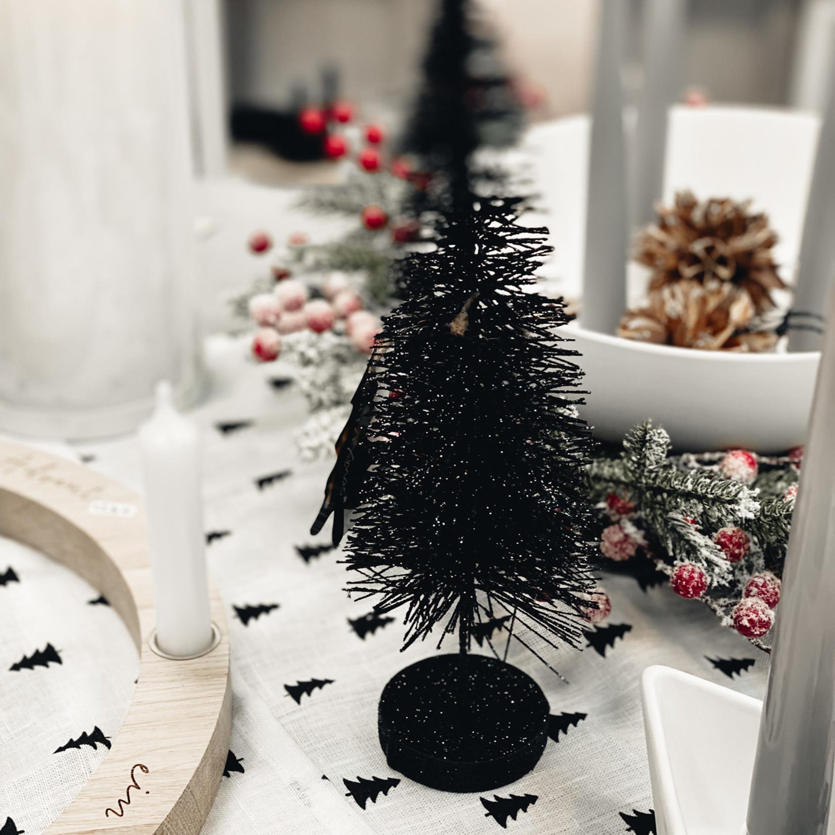 Glitzerbaum schwarz