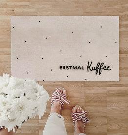 Eulenschnitt Fußmatte Erstmal Kaffee