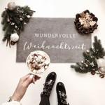 Eulenschnitt Waschbare Fußmatte Wundervolle Weihnachtszeit