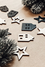 Weihnachtsstreu Holzmix