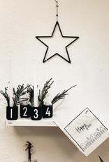 Design Letters Espressotassen schwarz Set