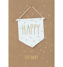Räder Design Grußkarte Happy Birthday Wimpel
