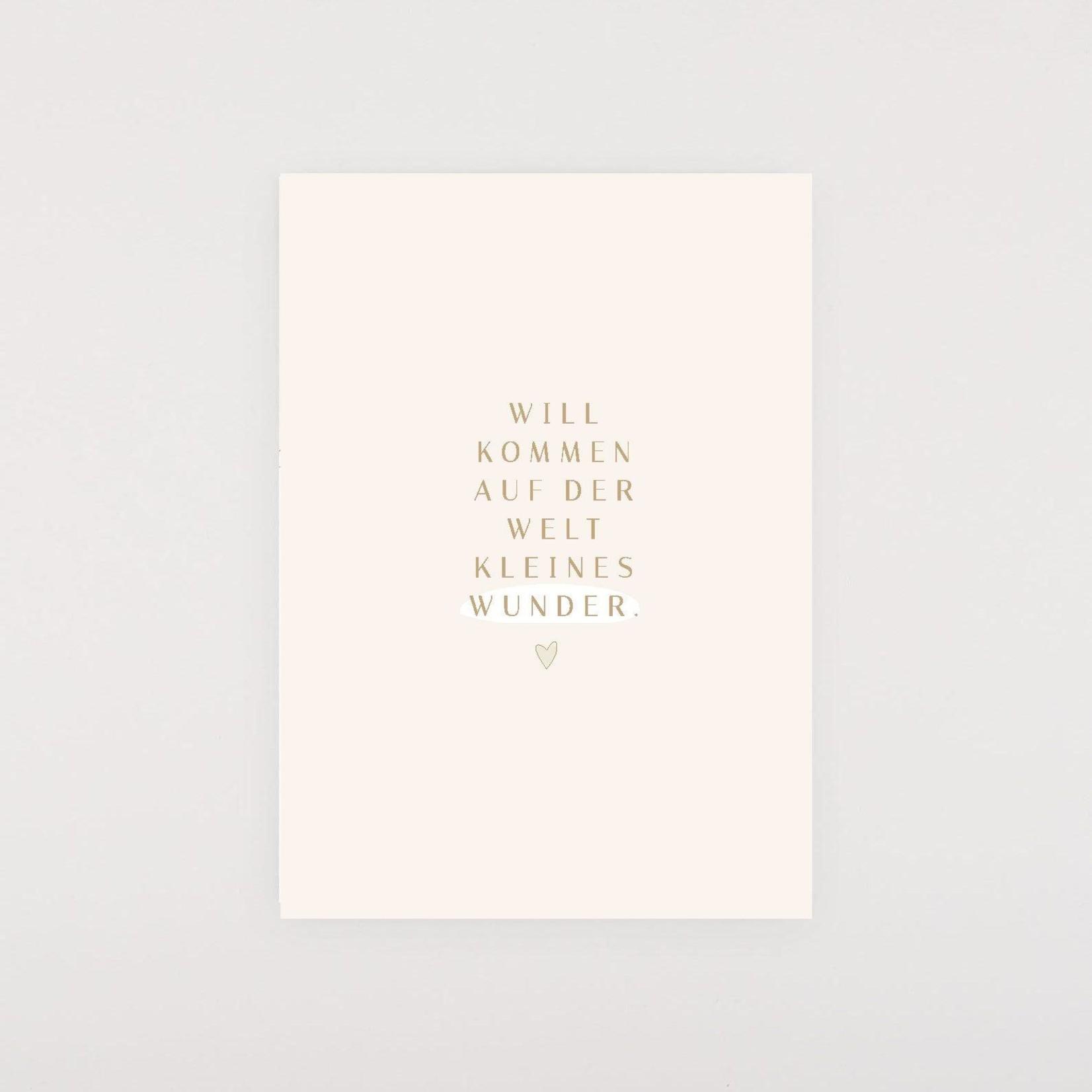 Postkarte Willkommen auf der Welt