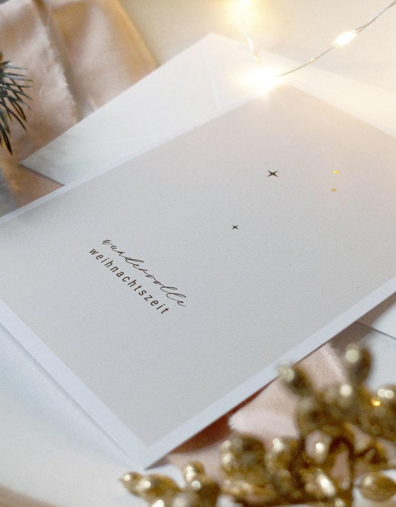 Postkarte wundervolle Weihnachtszeit