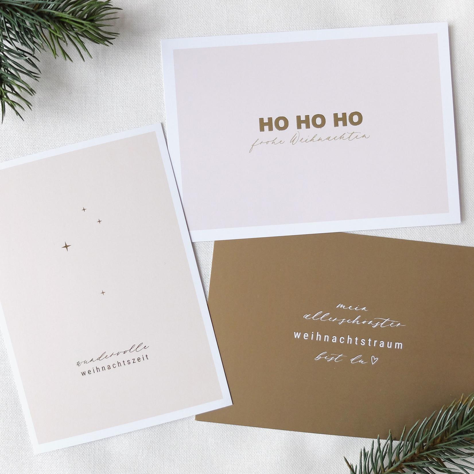 Postkarte mein allerschönster Weihnachtstraum