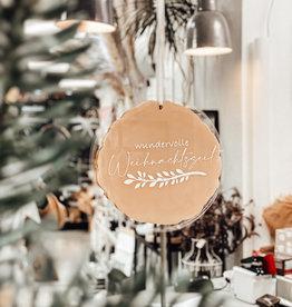 weihnachtliches Türschild