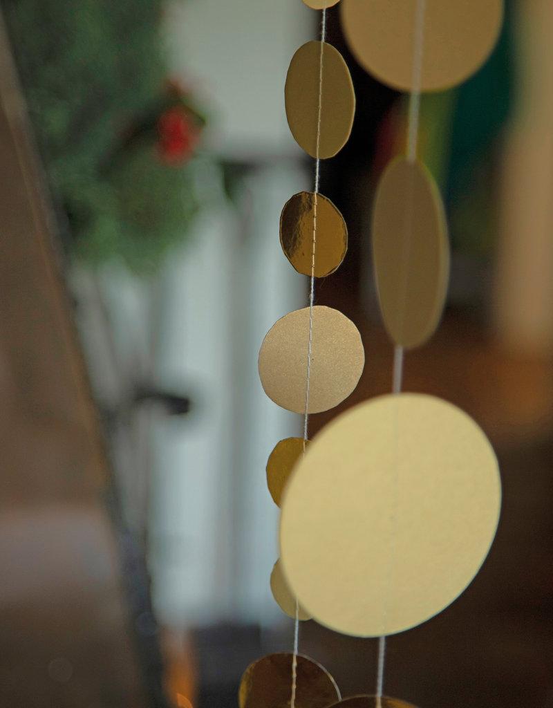 Räder Design Goldregen Papierkette klein