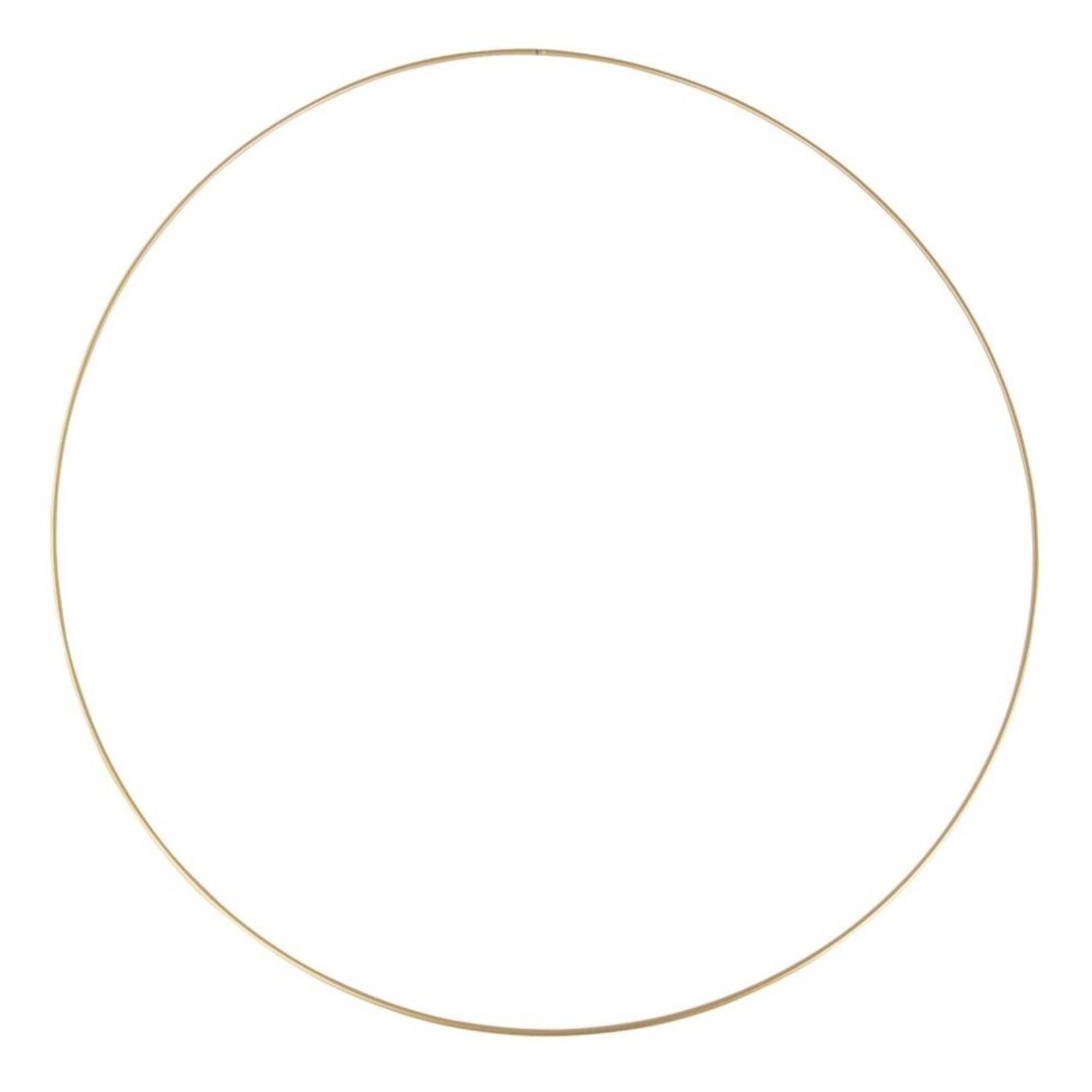 Madam Stoltz Metallring gold zum Aufhängen 40cm