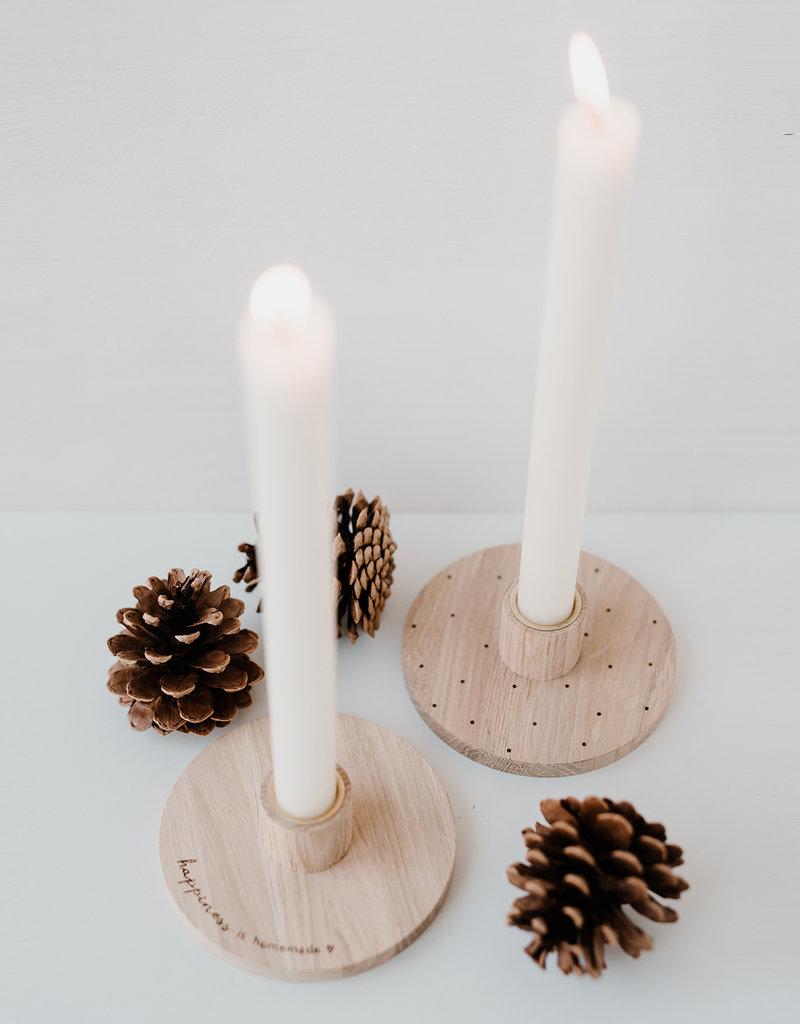 Eulenschnitt Kerzenständer Happiness is Homemade