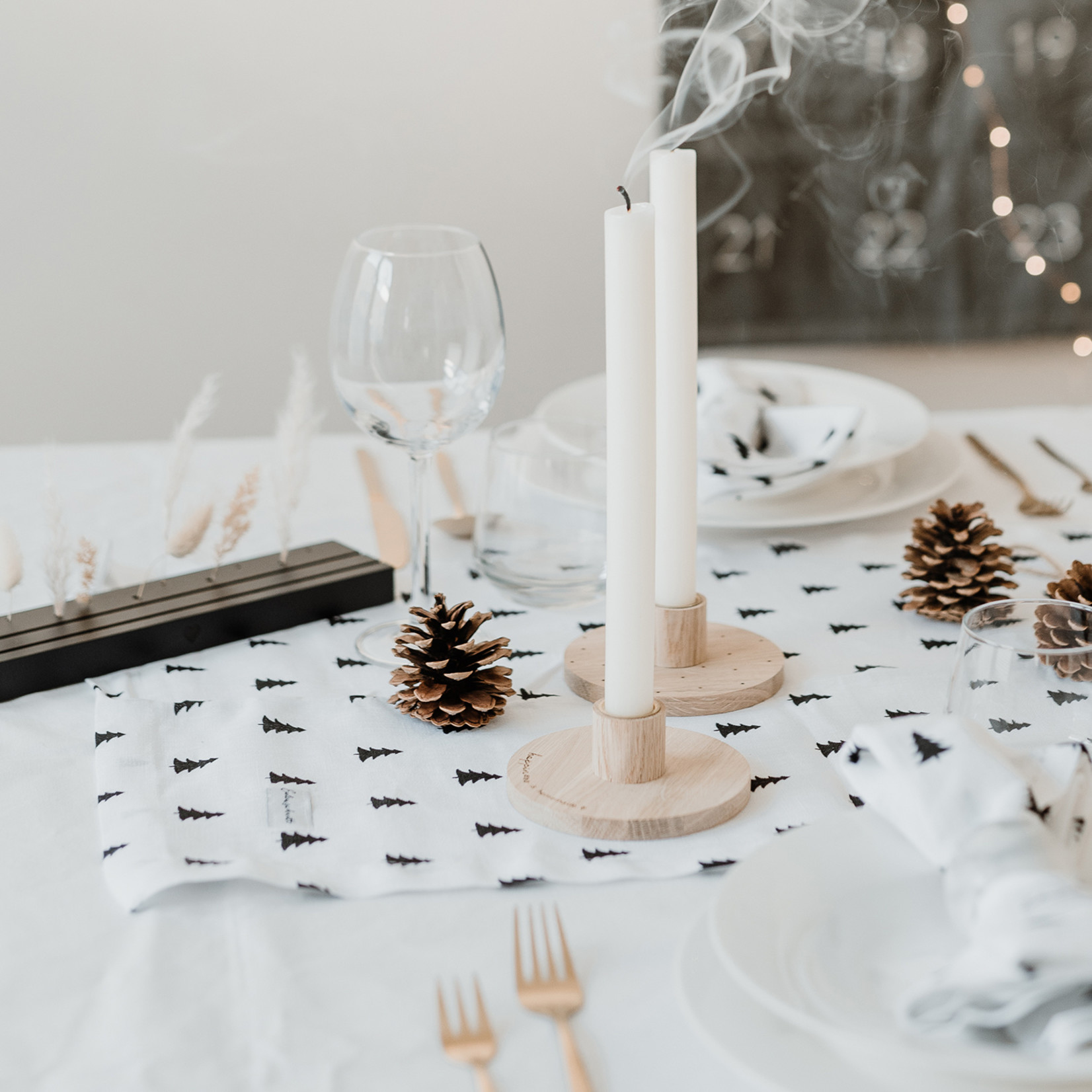 Eulenschnitt Kerzenständer Punkte
