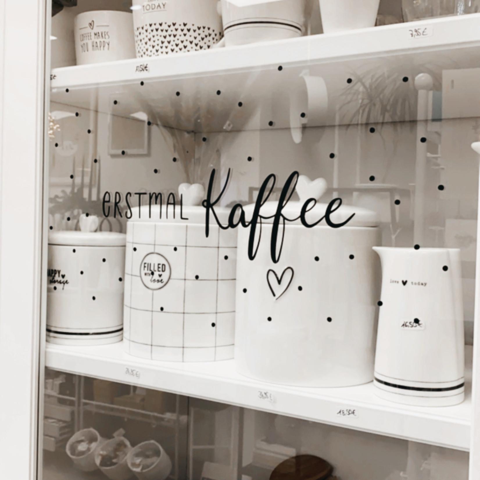 Eulenschnitt Sticker Erstmal Kaffee