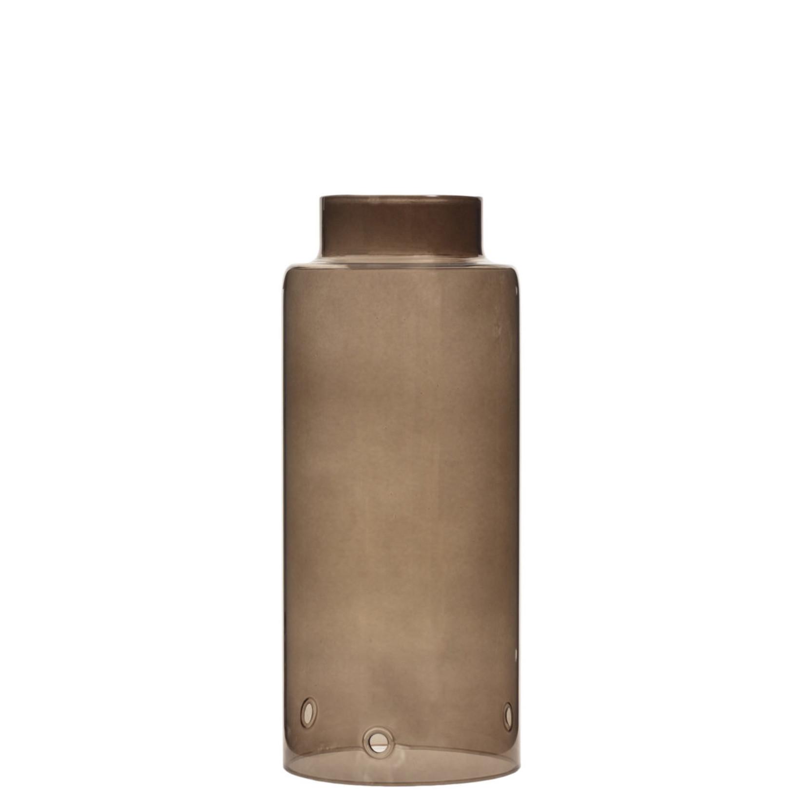 Storefactory  Glaszylinder braun für Stormkerzenständer