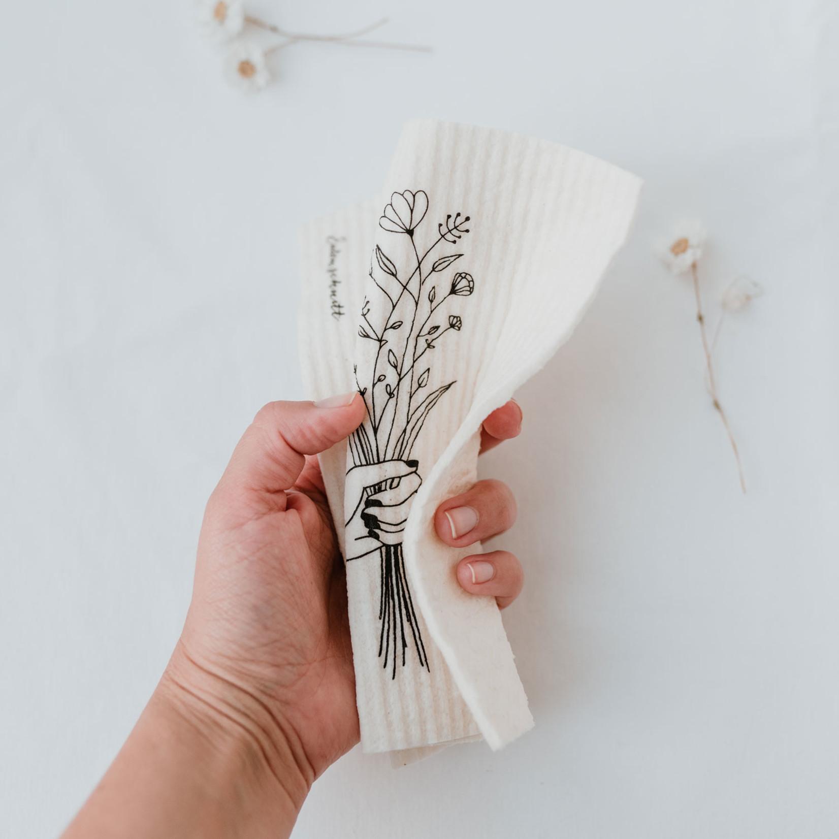 Eulenschnitt Schwammtücher Blumenliebe