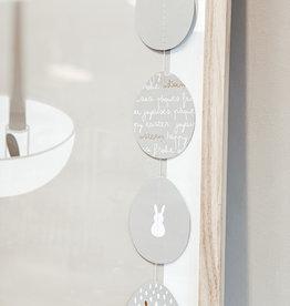Räder Design Ostern Kette Eier grau/weiß