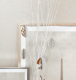 Räder Design Papier Eier Set grau/weiß