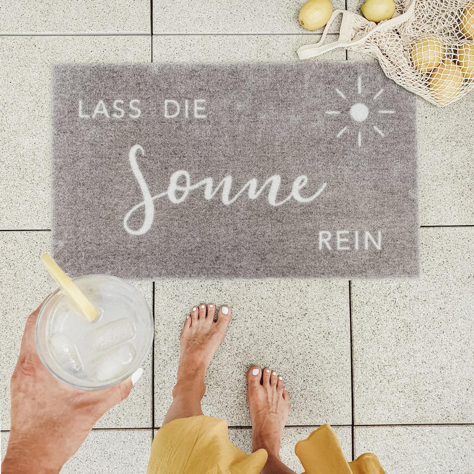 Eulenschnitt Waschbare Fußmatte Lass die Sonne Rein