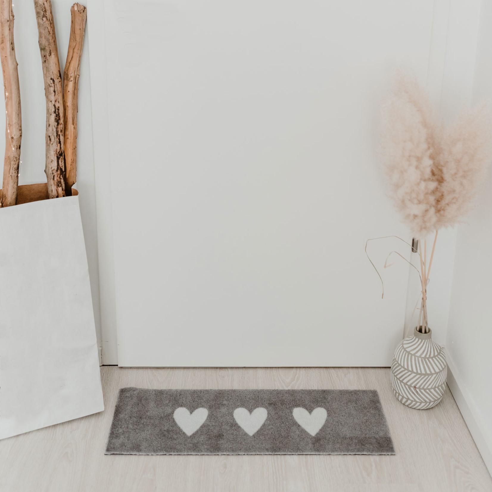 Eulenschnitt Fußmatte kleine Herzen