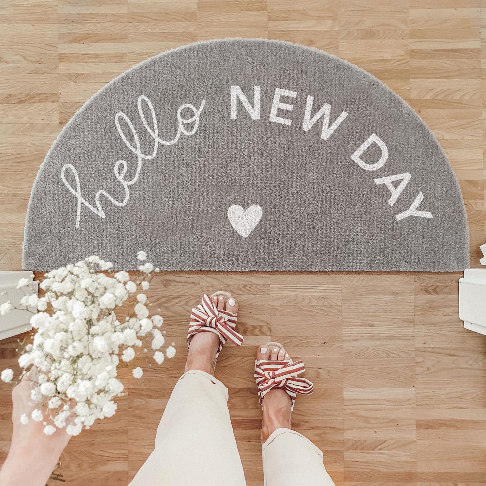 Eulenschnitt Fußmatte Hello New day