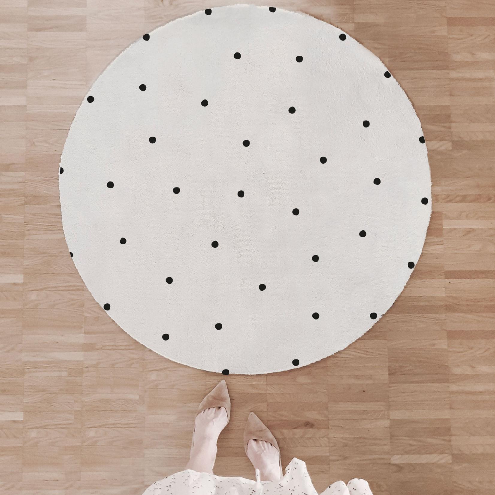 Eulenschnitt Runder Teppich Punkte