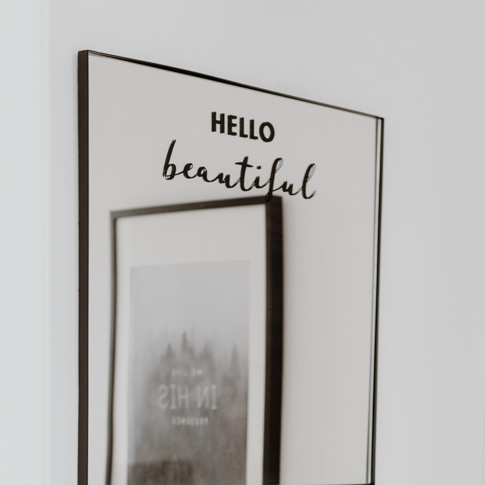 Eulenschnitt Sticker Hello Beautiful