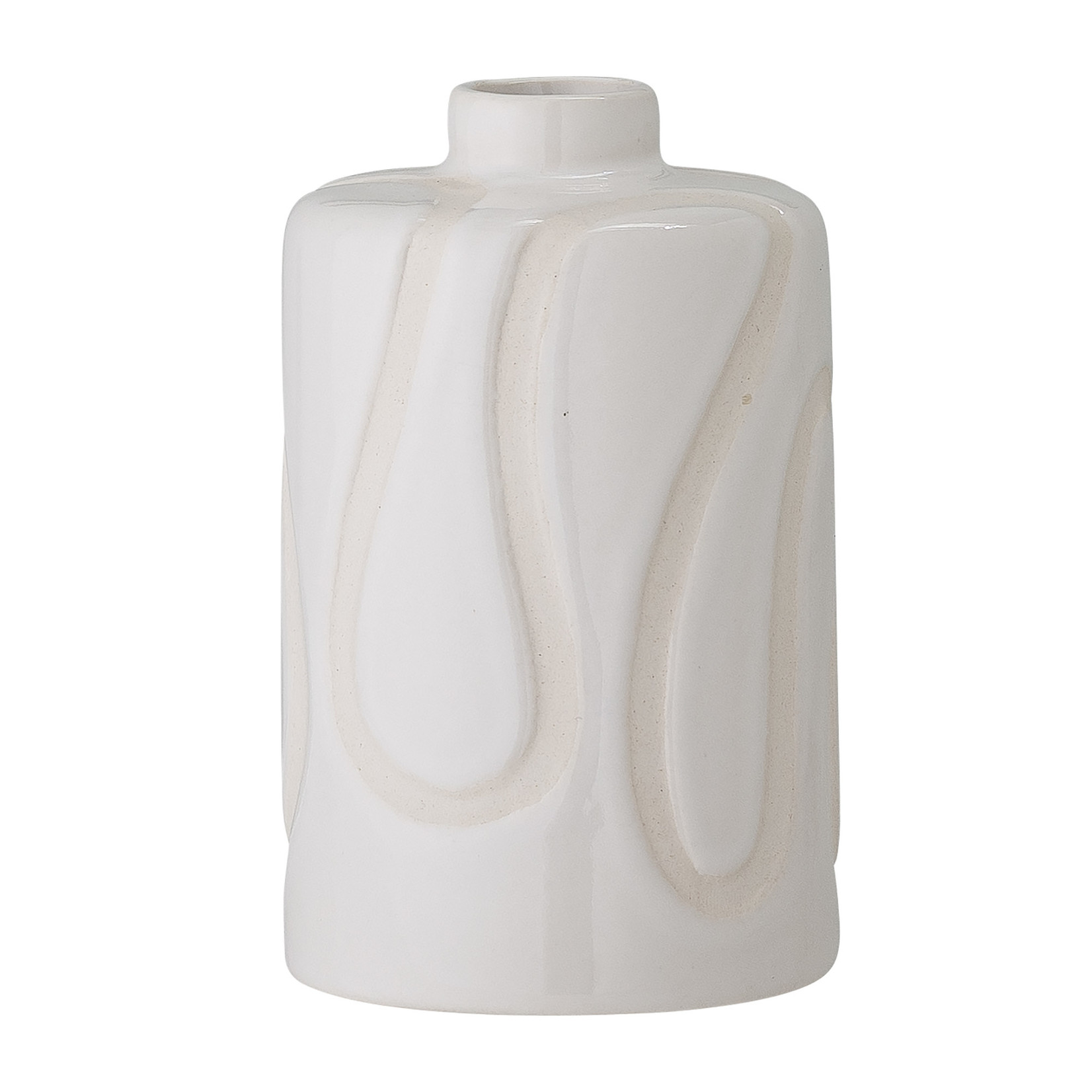 Bloomingville  Elice Vase, White, Stoneware