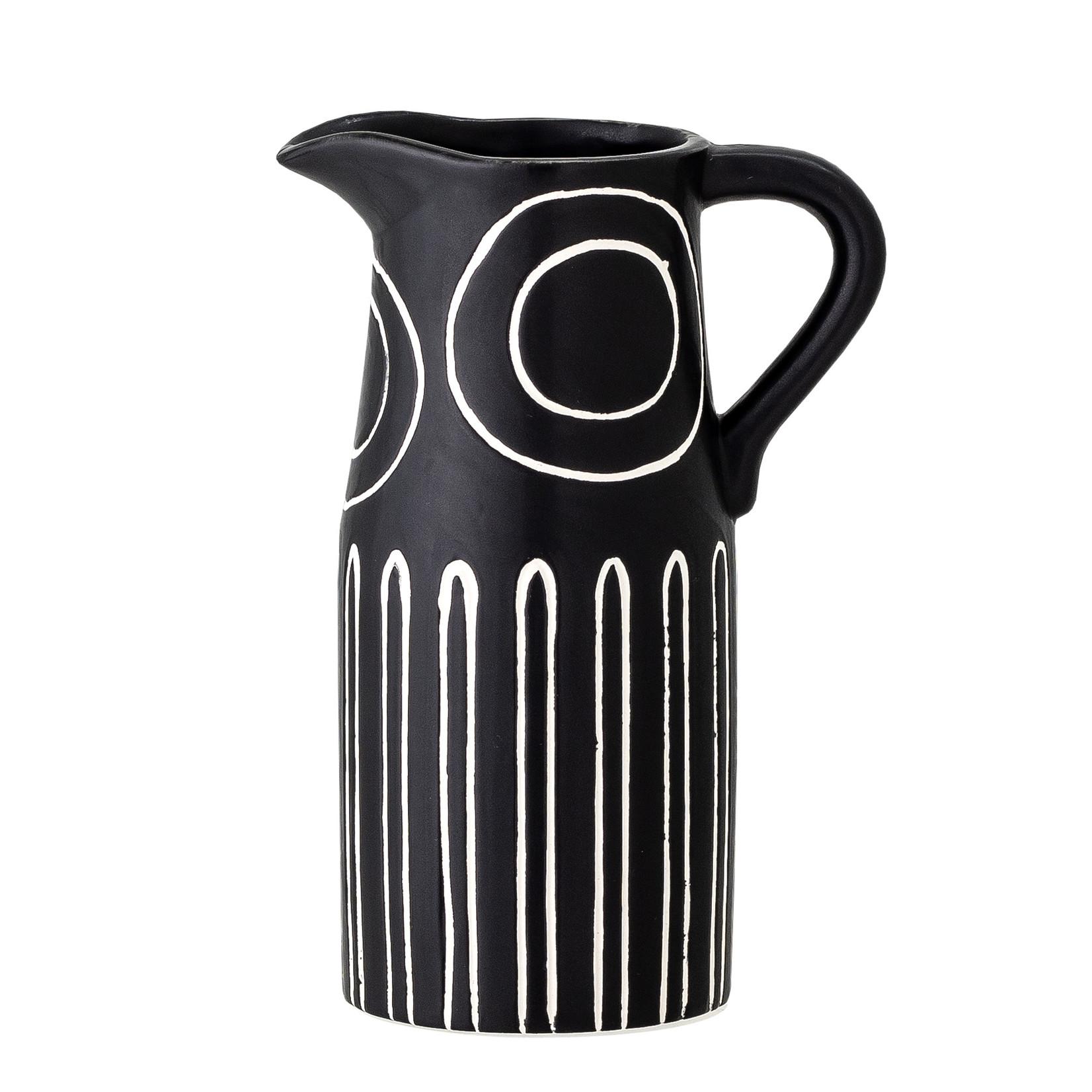 Bloomingville  Troy Vase, Black, Stoneware
