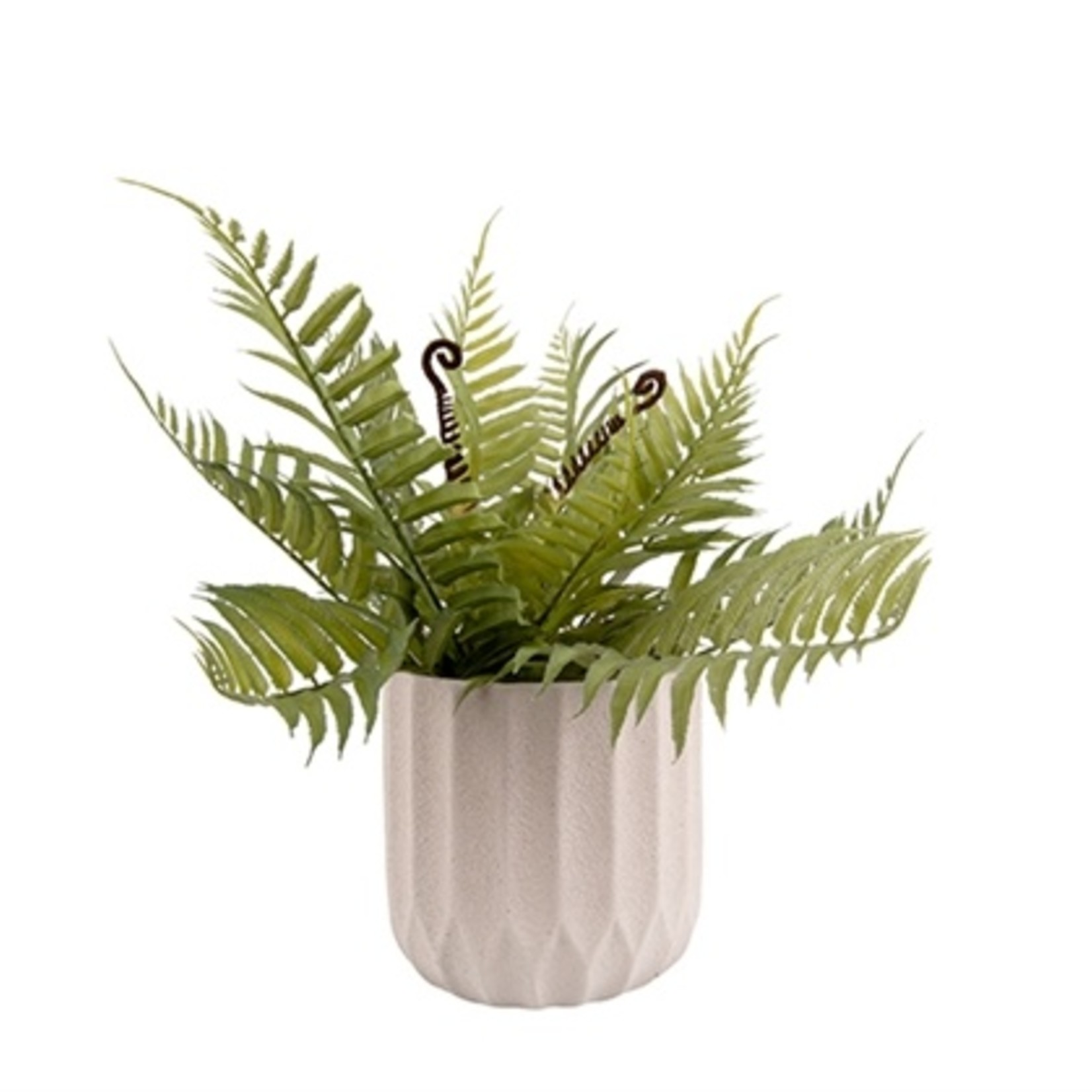 Presenttime Plant Pot Stripes Cement Medium