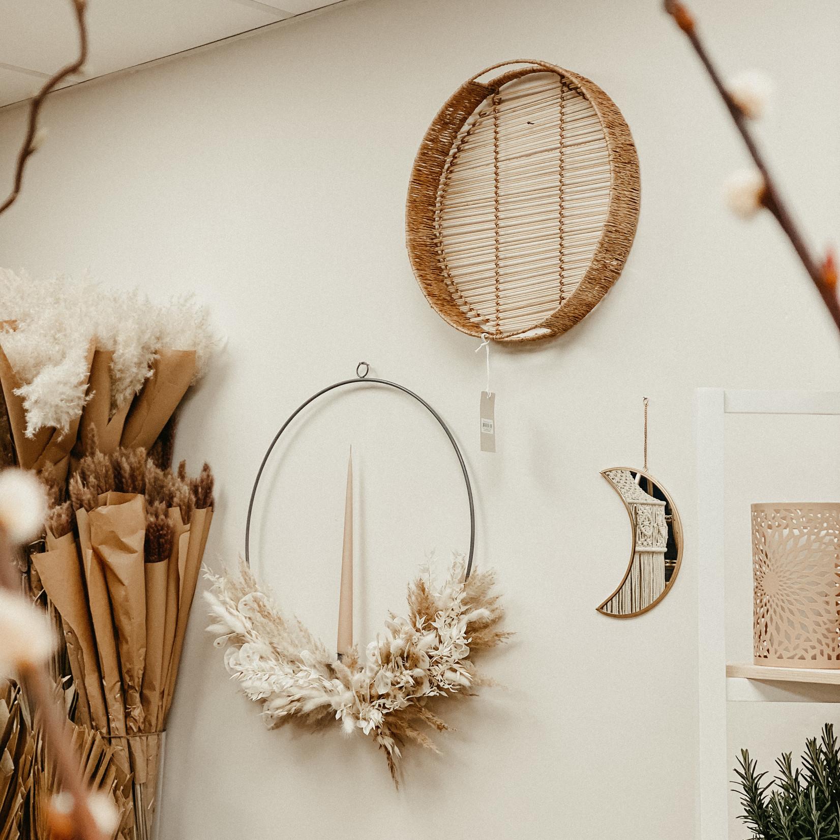 Storefactory  Flower Hoop Grau mit Kerzenhal
