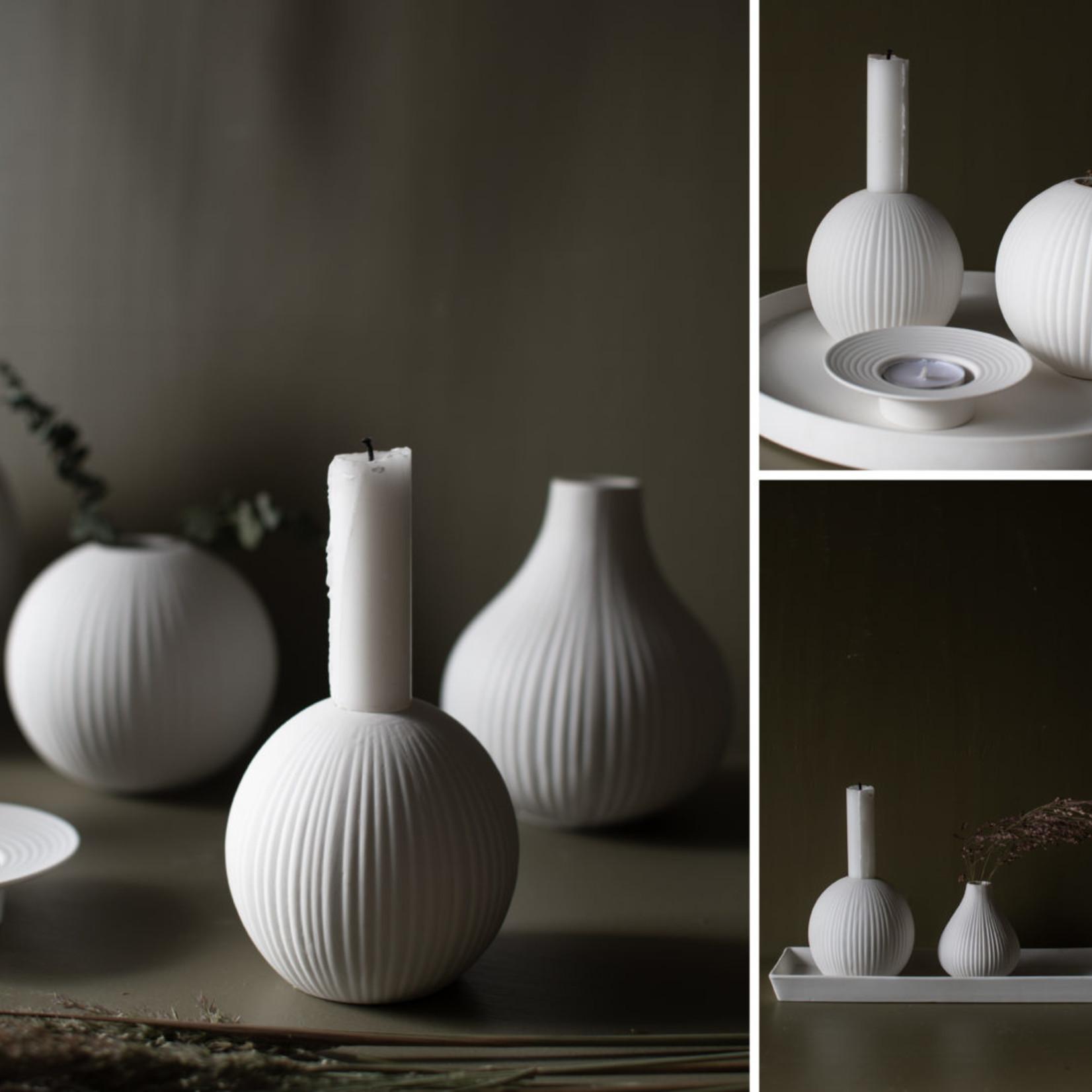 Storefactory  Kerzenständer Vena weiß
