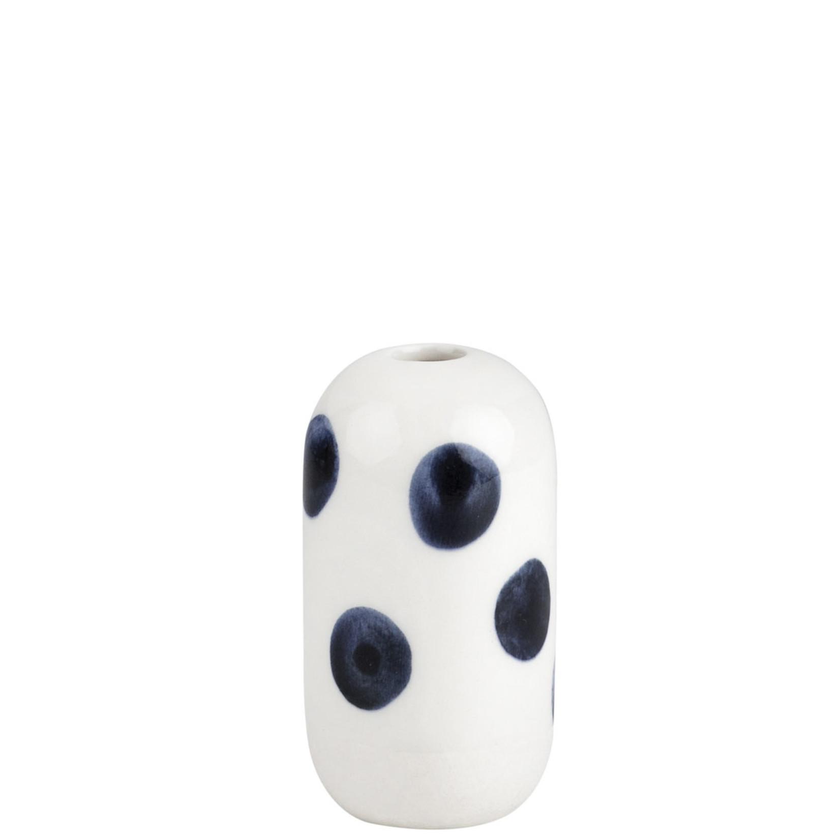 Räder Design Vase Punkte blau