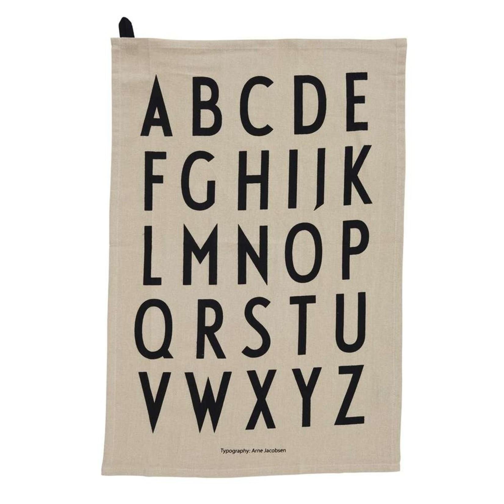 Design Letters Classic Tea towel - BEIGE