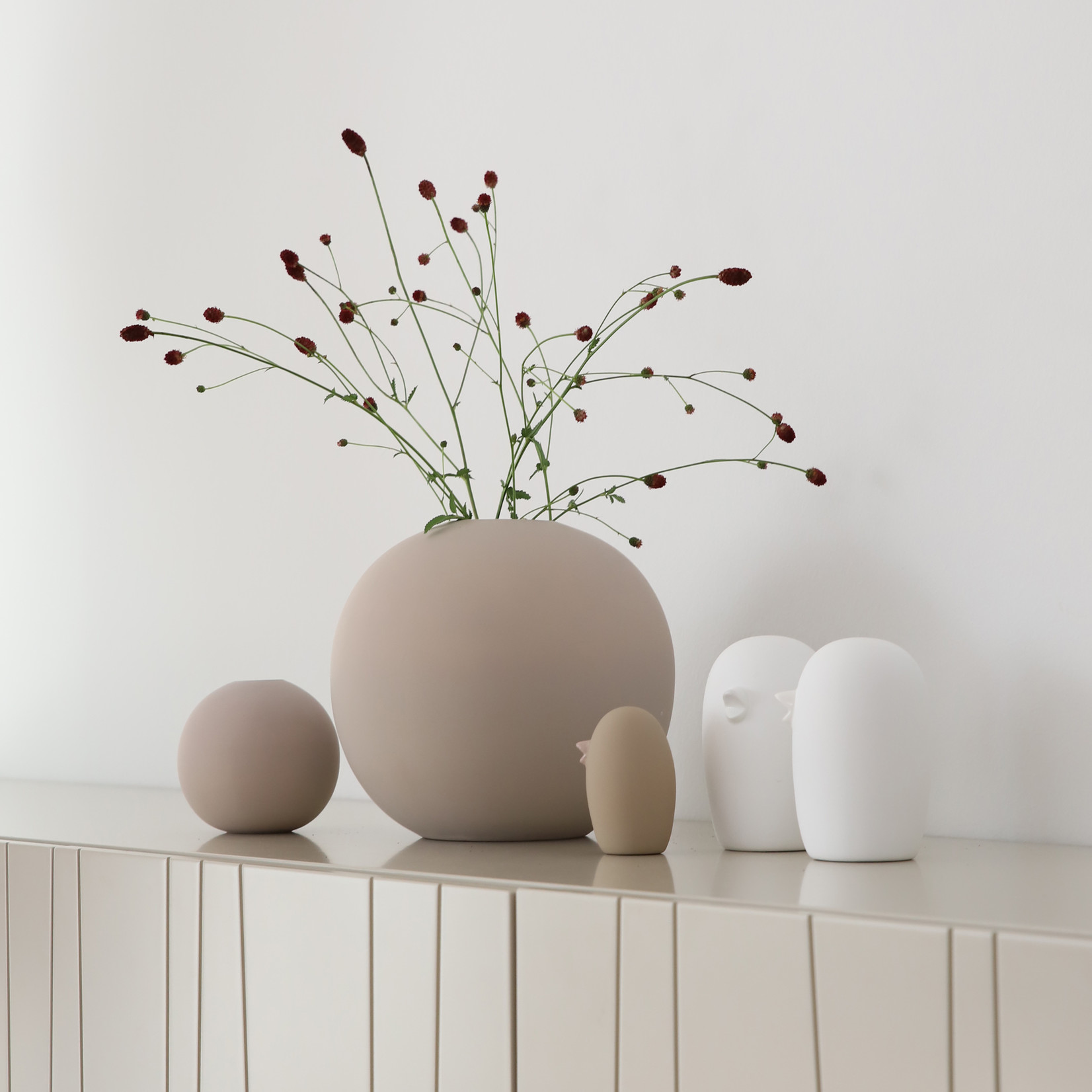 Cooee Design Keramik Vogel 12cm weiß