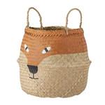 Bloomingville  Fritse Basket, Orange, Seagrass